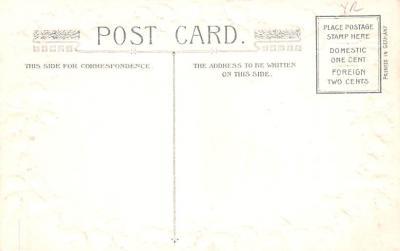 hol052849 - Christmas Postcard Old Vintage Antique Post Card  back