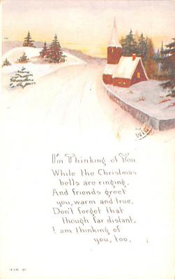 hol052861 - Christmas Postcard Old Vintage Antique Post Card