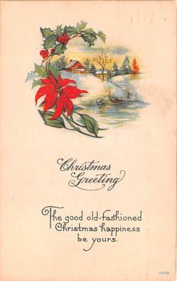 hol052863 - Christmas Postcard Old Vintage Antique Post Card