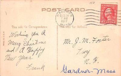 hol052863 - Christmas Postcard Old Vintage Antique Post Card  back