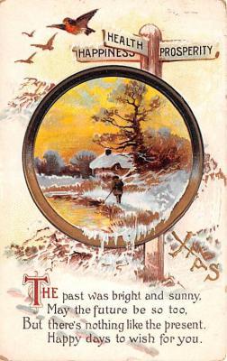 hol052865 - Christmas Postcard Old Vintage Antique Post Card