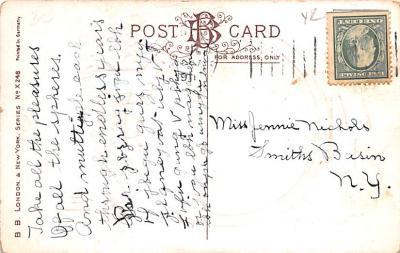 hol052865 - Christmas Postcard Old Vintage Antique Post Card  back