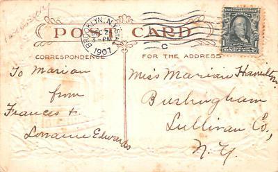 hol052867 - Christmas Postcard Old Vintage Antique Post Card  back
