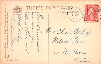 hol052873 - Christmas Postcard Old Vintage Antique Post Card  back
