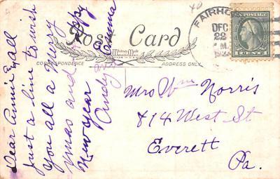 hol052879 - Christmas Postcard Old Vintage Antique Post Card  back