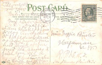 hol052885 - Christmas Postcard Old Vintage Antique Post Card  back