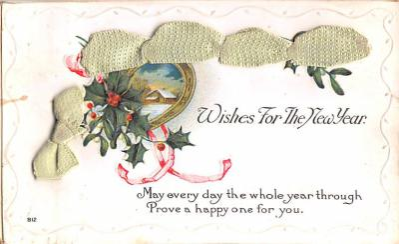 hol052889 - Christmas Postcard Old Vintage Antique Post Card