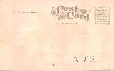 hol052889 - Christmas Postcard Old Vintage Antique Post Card  back