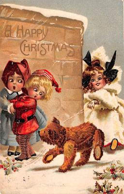 hol052899 - Christmas Postcard Old Vintage Antique Post Card