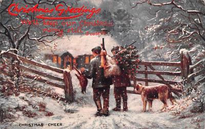 hol052915 - Christmas Postcard Old Vintage Antique Post Card
