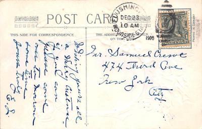 hol052937 - Christmas Postcard Old Vintage Antique Post Card  back