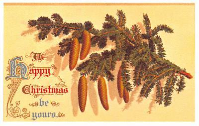 hol054011 - Christmas Postcard Old Vintage Antique Post Card