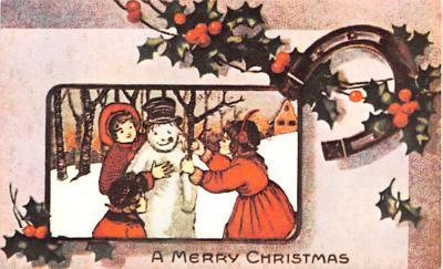 hol054069 - Christmas Postcard Old Vintage Antique Post Card