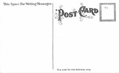 hol054075 - Christmas Postcard Old Vintage Antique Post Card  back