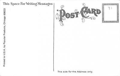 hol054091 - Christmas Postcard Old Vintage Antique Post Card  back