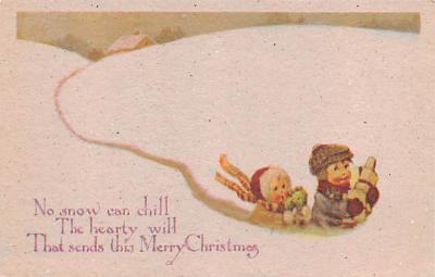 hol054107 - Christmas Postcard Old Vintage Antique Post Card