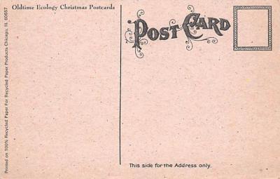 hol054107 - Christmas Postcard Old Vintage Antique Post Card  back