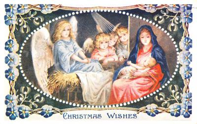 hol054113 - Christmas Postcard Old Vintage Antique Post Card