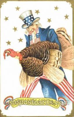 hol060109 - Uncle Sam, Thanksgiving Postcard Postcards