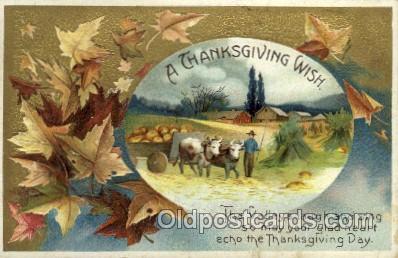 hol060166 - Artist Ellen Clapsaddle, Thanksgiving Postcard Post Cards