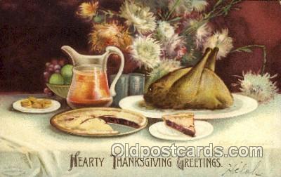 hol060170 - Artist Ellen Clapsaddle, Thanksgiving Postcard Post Cards