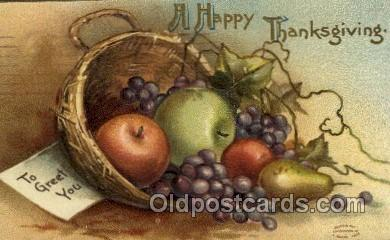 hol060188 - Artist Ellen Clapsaddle, Thanksgiving Postcard Post Cards