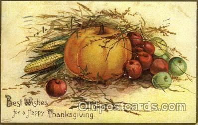 hol060193 - Artist Ellen Clapsaddle, Thanksgiving Postcard Post Cards