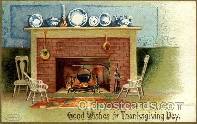 hol060209 - Artist Ellen Clapsaddle, Thanksgiving Postcard Post Cards