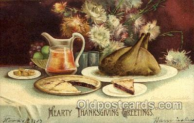 hol060214 - Artist Ellen Clapsaddle, Thanksgiving Postcard Post Cards