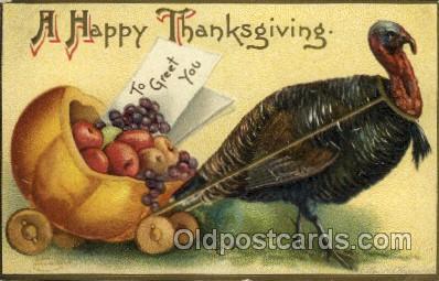 hol060215 - Artist Ellen Clapsaddle, Thanksgiving Postcard Post Cards