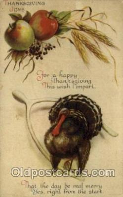 hol060255 - Artist Ellen Clapsaddle, Thanksgiving Postcard Post Cards