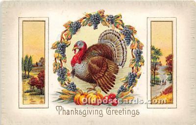 hol061181 - Thanksgiving Old Vintage Antique Postcard Post Card