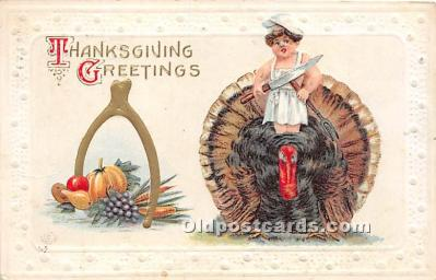 hol061188 - Thanksgiving Old Vintage Antique Postcard Post Card