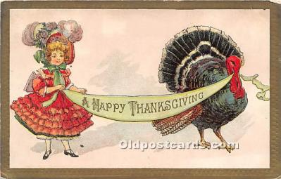 hol061227 - Thanksgiving Old Vintage Antique Postcard Post Card