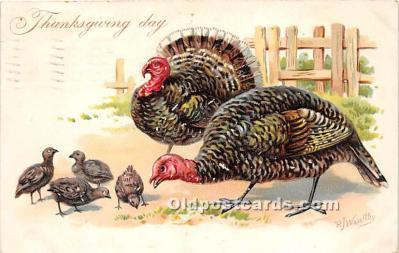 hol061276 - Thanksgiving Old Vintage Antique Postcard Post Card