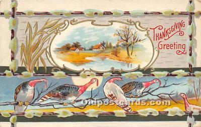 hol061618 - Thanksgiving Old Vintage Antique Postcard Post Card