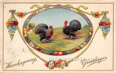 hol061624 - Thanksgiving Old Vintage Antique Postcard Post Card