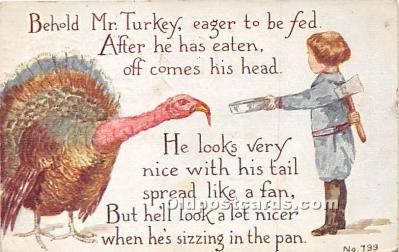 hol061625 - Thanksgiving Old Vintage Antique Postcard Post Card