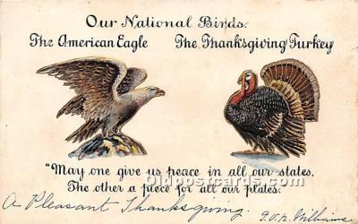 hol061631 - Thanksgiving Old Vintage Antique Postcard Post Card
