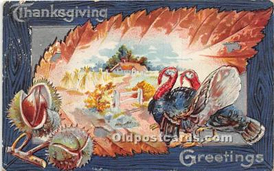 hol061633 - Thanksgiving Old Vintage Antique Postcard Post Card