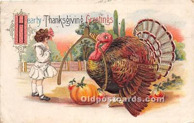 hol061645 - Thanksgiving Old Vintage Antique Postcard Post Card