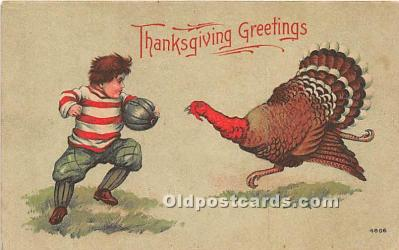 hol061647 - Thanksgiving Old Vintage Antique Postcard Post Card