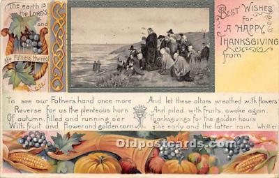 hol061658 - Thanksgiving Old Vintage Antique Postcard Post Card