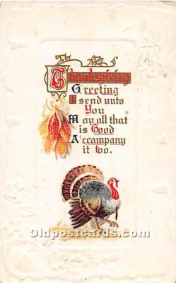 hol061670 - Thanksgiving Old Vintage Antique Postcard Post Card