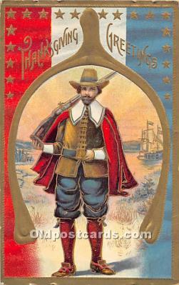 hol061674 - Thanksgiving Old Vintage Antique Postcard Post Card