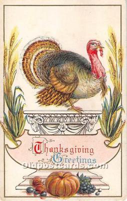 hol061684 - Thanksgiving Old Vintage Antique Postcard Post Card