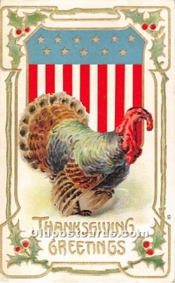 hol061686 - Thanksgiving Old Vintage Antique Postcard Post Card