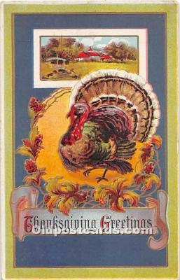 hol061692 - Thanksgiving Old Vintage Antique Postcard Post Card