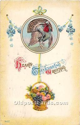 hol061700 - Thanksgiving Old Vintage Antique Postcard Post Card