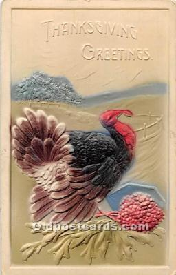 hol061705 - Thanksgiving Old Vintage Antique Postcard Post Card